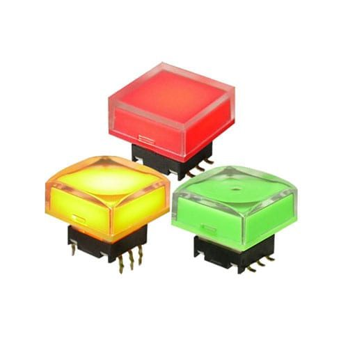 SPDG Switches, push button tactile click RGB LED illumination switches.