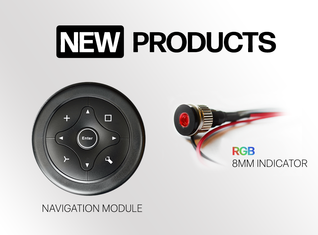 NEW PRODUCTS TO RJS ELECTRONICS NAVIGATION MODULE AND RGB 8MM INDICATOR