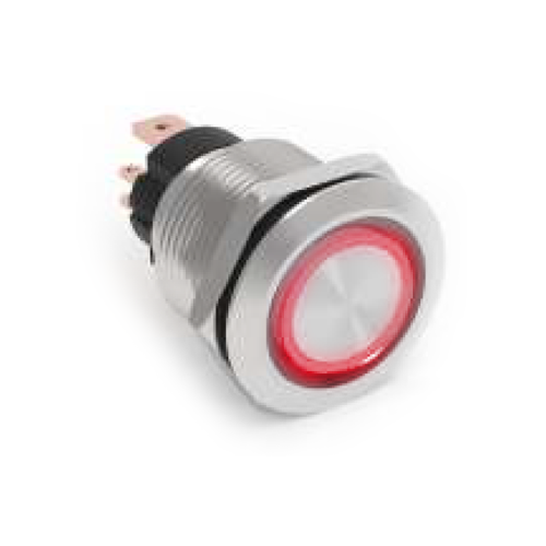 high current metal push button switch with led illumination rjs electronics