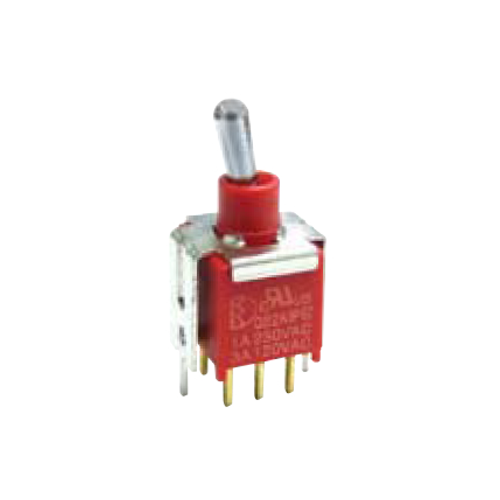 2A Series - Toggle Switches, PCB switches. VS2- DPDT - vertical - IP67 rated - RJS ELECTRONICS LTD.