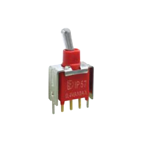 2A Series - Toggle Switches, PCB switches. VS2- SPDT - vertical - IP67 rated - RJS ELECTRONICS LTD.
