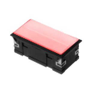 3L-illuminated LED indicator Panel mount - Rect. Connector type - Red - RJS Electronics Ltd