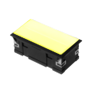 3L-illuminated LED indicator Panel mount - Rect. Connector type - Yellow - RJS Electronics Ltd