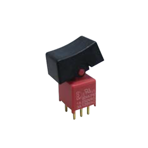 4ASeries - DPDT - Rocker Switches, Panel Mount switches. RJS Electronics Ltd, pcb, panel mount, rocker switch, switch without LED illumination, SPDT, IP67 rated, electromechanical switch, RJS Electronics Ltd.