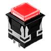 CH - Square - Panel Mount, Plastic Push Button - Red - RJS Electronics Ltd