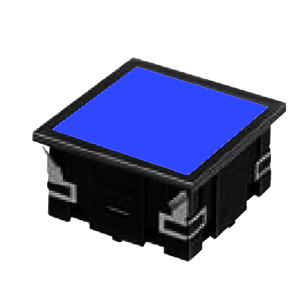 CL - FLAT SQUARE LED INDICATOR PANEL - 40MM X 40MM- BLUE - RJS Electronics Ltd.