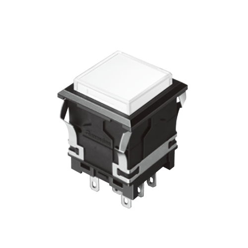 EH-G- Illuminated Push Button Switches - SQUARE - White - RJS Electronics Ltd.
