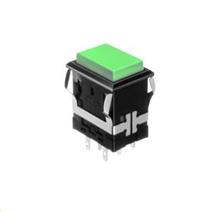 FH - Illuminated Switch - Rectangular - Green LED Illumination - RJS Electronics Ltd