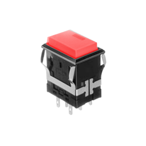 FH - Illuminated Switch - Rectangular Spot - Red LED Illumination - RJS Electronics Ltd