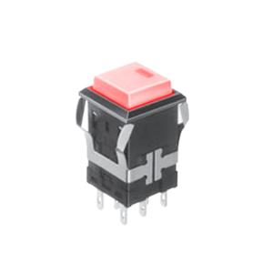 FH - Illuminated Switch - Square Spot - Red LED Illumination - RJS Electronics Ltd