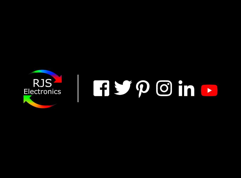 RJS Electronics ltd, is on social media. Find us on Facebook, twitter, pinterest, instagram, linkedin and YouTube.