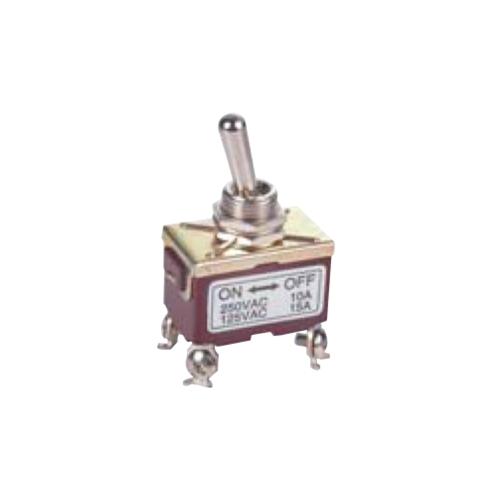 PCB- Toggle Switches- LPO SERIES - DPST- RJS ELECTRONICS LTD