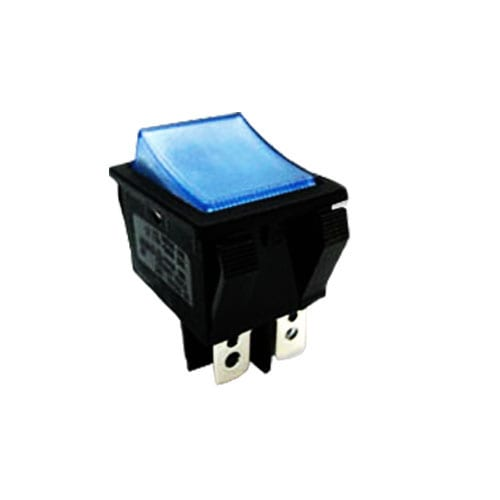 R5 ROCKER SWITCH BLUE ILLUMINATED CUSTOM PANEL MOUNT SWITCH RJS ELECTRONICS LTD.