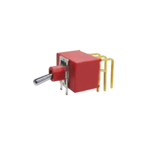Toggle & Rocker Switch, RJS-1A-M7-3PDT, Plastic, Red, RJS Electronics Ltd.
