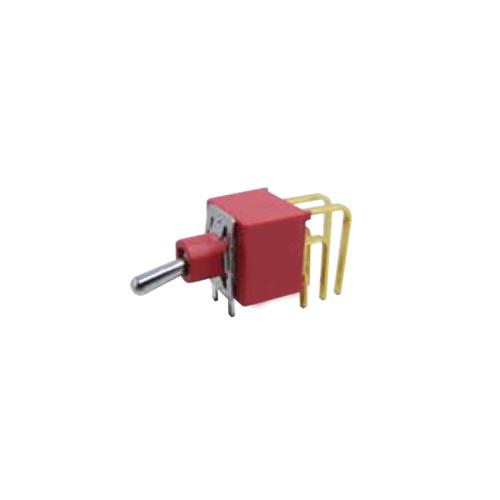 Toggle & Rocker Switch. RJS-1A-M7-DPDT, plastic, red, dpdt, RJS ELECTRONICS LTD.