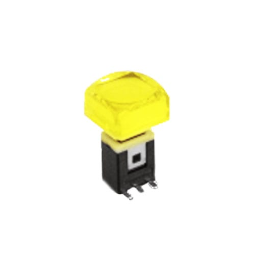 RJS-K2 15mm Push Button Switch Yellow illuminated push button with alternative caps, sigle, bi-colour LED illumination. RJS Electronics Ltd