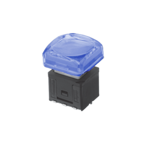 RJS-KA-17.4mm- ILLUMINATED-PUSH BUTTON SWITCH - blue - RJS ELECTRONICS LTD.