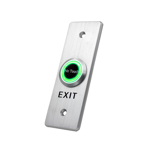 Aluminium touchless exit button, rjs electronics ltd