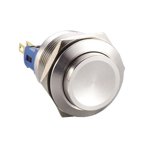 RJS103-22(A)-H-(BSBLK)-67J, 22mm push button metal switch, no LED illumination.