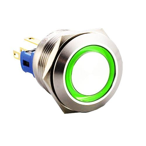 Metal LED push button switch