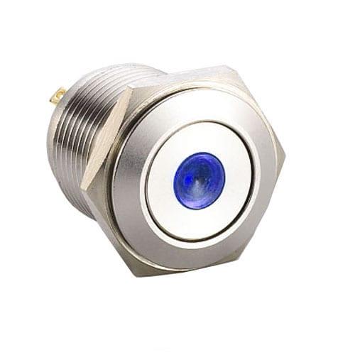 RJS1N1-16L-F-D~67J, 16mm push button metal switch with LED illumination