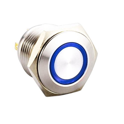 RJS1N1-16L-F-R~67J, 16mm push button metal switch