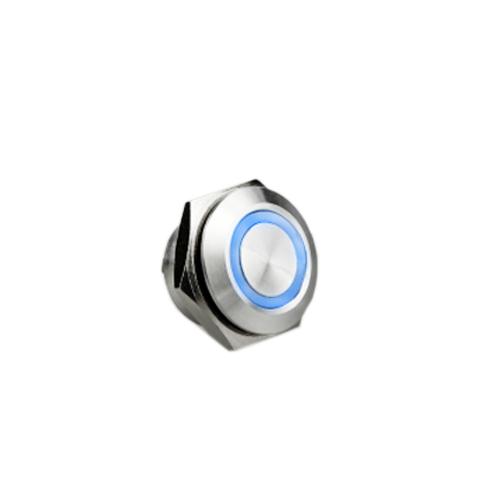 12mm metal anti vandal push button switch with led illumination, rjs electronics ltd