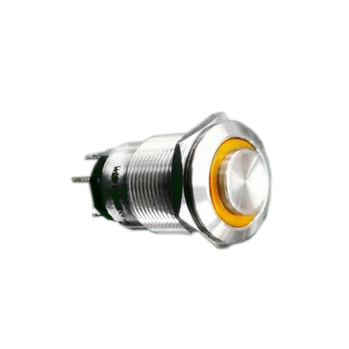 19mm led illuminated metal push button switch, high head, ip67 rated