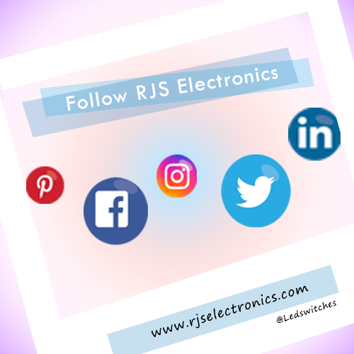 social media, facebook, linkedin, twitter, pinterest, instagram, follow us, stay connected, ledswitches