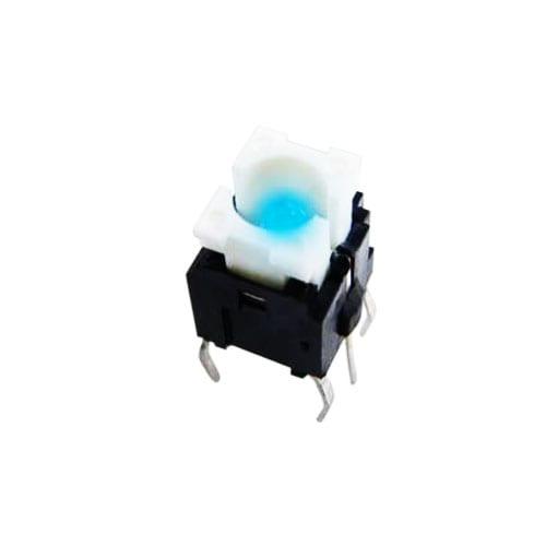 tactile push button switch, pcb mount, led illumination, rjs electronics ltd