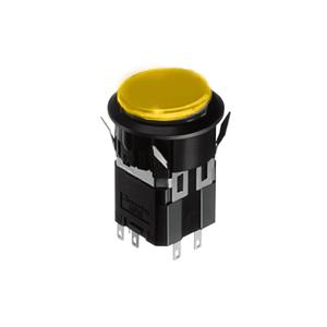 WH Illuminated push button switch - round- 25mm push button switch - yellow - RJS Electronics Ltd.
