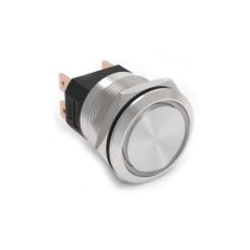 RJS107-25-F~67J, push button metal switch, high current switch, without LED illumination, IP65 RATED, RJS ELECTRONICS LTD.