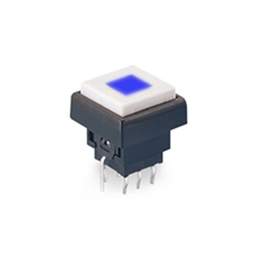 PCB, push button switches with LED illumination.
