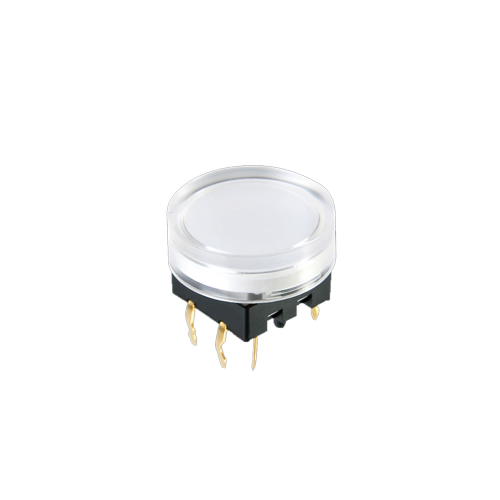 spl15 push button switch, with led illumination, clear cap rjs electronics